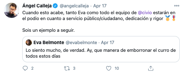 Tweet sobre Civio de Angel Calleja